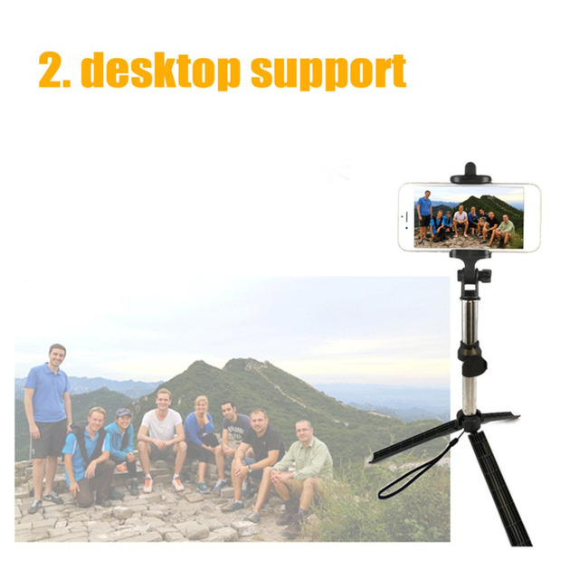 Wireless Bluetooth Remote Shutter Selfie Stick Mini Tripod Extendable Selfie Stick Universal for iOS Android Smartphone Dropship 4