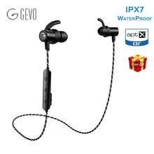Gево GV-18BT наушники беспроводные для телефона IPX7 Водонепроницаемый Bluetooth 5.0 стерео наушники с микрофоном громкой связи Bluetooth наушники для телефона Спортивная наушники беспроводные спорт iphone для айфона