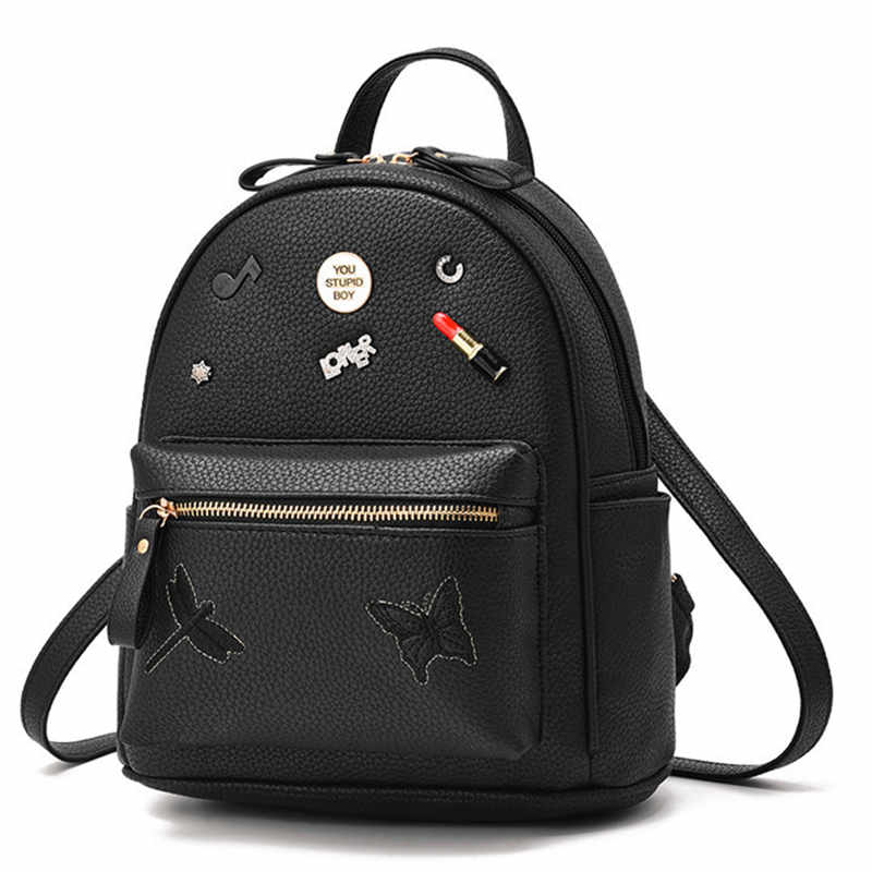 Korean Fashion Women PU Leather Pink Backpack School Bag For Girl Travel Bookbag Casual Female Rucksack Ladies Kawaii Backpacks simple designer small backpack women white and black travel pu leather backpacks ladies fashion female rucksack school bags