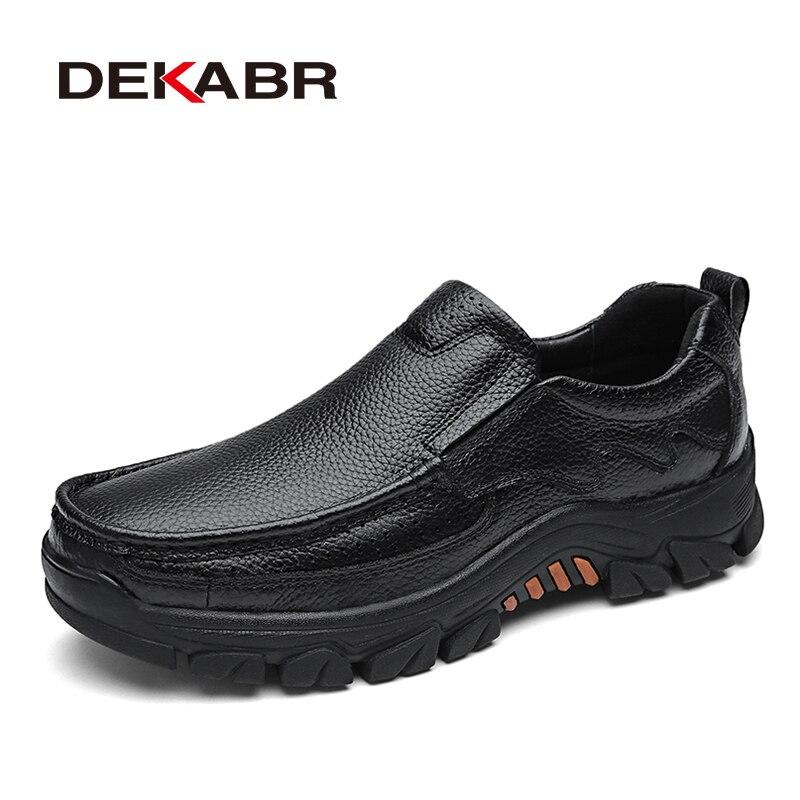 DEKABR 100% Genuine Leather Men Shoes Soft Men Casual Loafers High Quality Men Shoes Breathable Men Fashion Luxury Flats