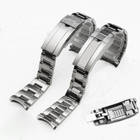Brands 20mm Brushed Polish Silver Stainless steel Watch Bands Strap For RX Daytona Submarine Role Sub mariner Wristband Bracelet