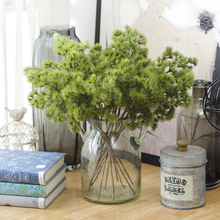 Artificial Bouquet Of Short Branches Pine Needles Home Decoration Flowers Plant Flores Para Manualidades