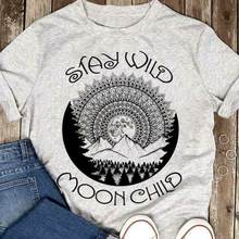 Hippie Forest Mountain Stay Wild Moon Child Men Sport Grey Cotton T Shirt S-6XL Cool Casual pride t shirt men Unisex Fashion(China)