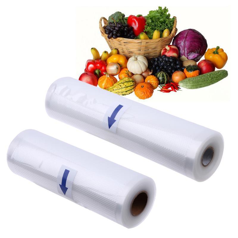 1 Roll Fresh-keeping Bag Vacuum Sealer Food Protector Bags Storage Of Food Bags Saran Wrap Good Sealing Kitchen Storage 4pcs silicone reusable food fresh keeping plastic wrap