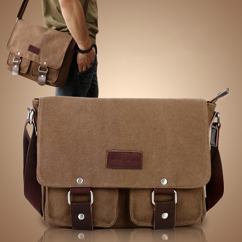 NEW shoulder bags Vintage Canvas Crossbody Bag Men's Messenger Shoulder Laptop Bags Casual Teenagers High Qualit shoulder bag women handbag shoulder bag messenger bag casual colorful canvas crossbody bags for girl student waterproof nylon laptop tote