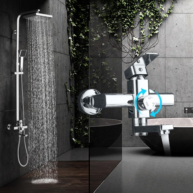 Badezimmerarmaturen Dusch-armaturen Quyanre Bad Dusche Armaturen Set 8 regen Dusche Kopf Badewanne Auslauf Waschbecken Wasserhahn 3-weg Einzigen Griff Mischer Wasserhahn Bad Dusche Halten Sie Die Ganze Zeit Fit