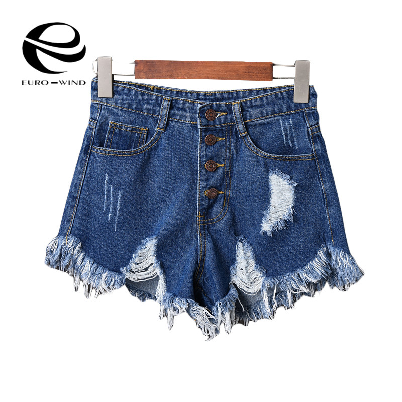 Plus Size 6XL 2019 European and American BF Summer Wind Female Midi Waist Denim   Shorts   Women Worn Loose Burr Hole Jeans   Shorts