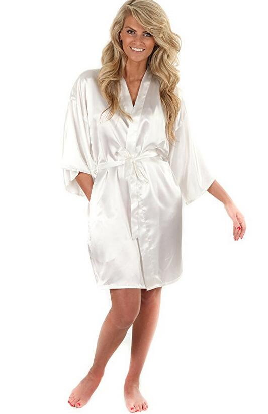 New Black Chinese Women s Faux Silk Robe Bath Gown Hot Sale Kimono Yukata Bathrobe Solid