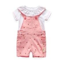 2  шт 2016 лето девочка костюмы новорожденных детская одежда милый ребенок одежда девочка одежда девочки платья хлопка дети одежда