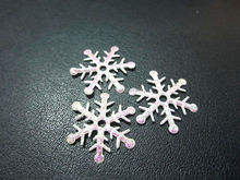100 pieces lot snowflake Appliques Wedding Christmas decoration craft DIY A042