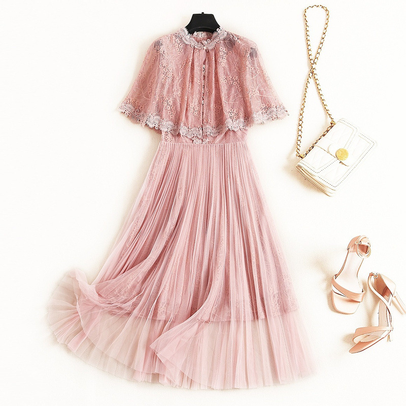 Shuchan 2 Piece Sets Womens Lolita Style Cloak tank Dress Mid Calf Women Sets Clothes women clothing set for autumn 2019 12367 in Women 39 s Sets from Women 39 s Clothing