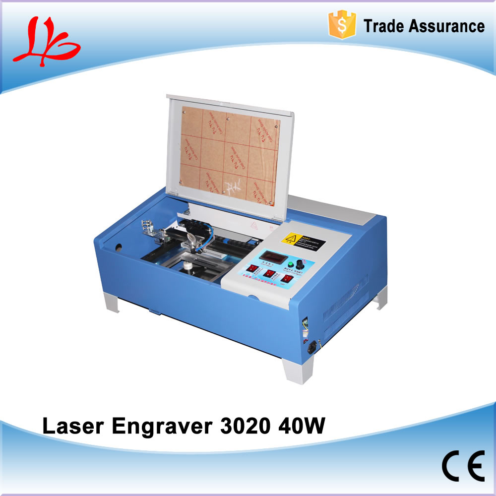 CO2 Digital laser engraving machine 3020 40W Mini Laser engraver cutting machine with digital function and honeycomb manufacturer 3020 40w mini co2 desktop laser engraving cutting machine