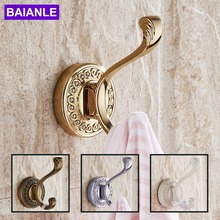 Classic Round Carving  Zinc Alloy Hat Bag Towel Coat Clothes Hanger decorative Metal Robe Hooks Creative Wall Door