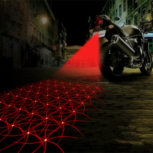 LED Motorcycle Laser Fog Light Anti Collision Tail Auto Brake Parking Lamp Motorbike Warning Lights Motor Styling Accessories