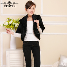 Autumn and Spring Women's Genuine Knitted MinkFur Vest Natural Mink Fur Waistcoats Super Low Price Knitted Mink Coat