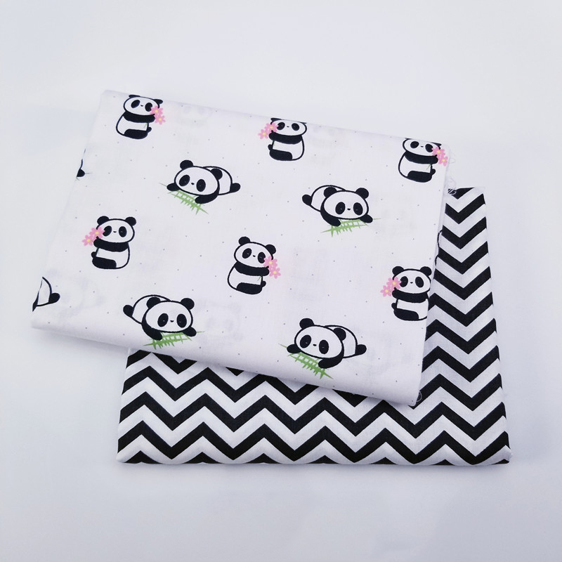 Kids Panda Ripple 100% Cotton print fabric DIY sewing uphostery craft for Baby&Children Quilting Sheets Dress Material 2