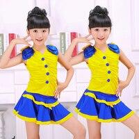 Children Cheerleading Dance Short Skirt Cheerleading Costume Stage Costumes Jazz Dance Costume