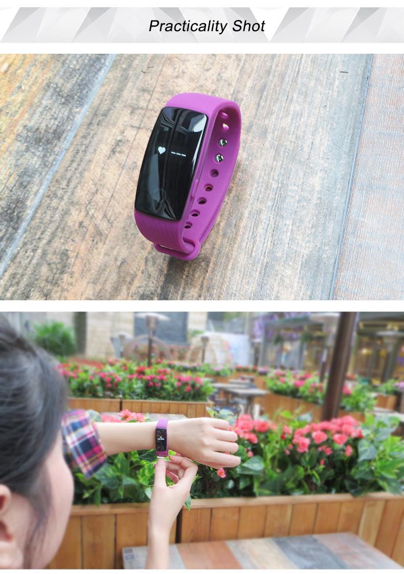 Inteligentny zespół id107 pulsometr siłownia sport bransoletka smartband pulsometer inteligentne nadgarstek dla apple ios android 12