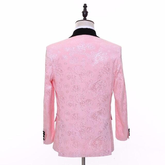 Tienda Online Nueva Marca Rosa hombres traje de boda Pegatinas para ...