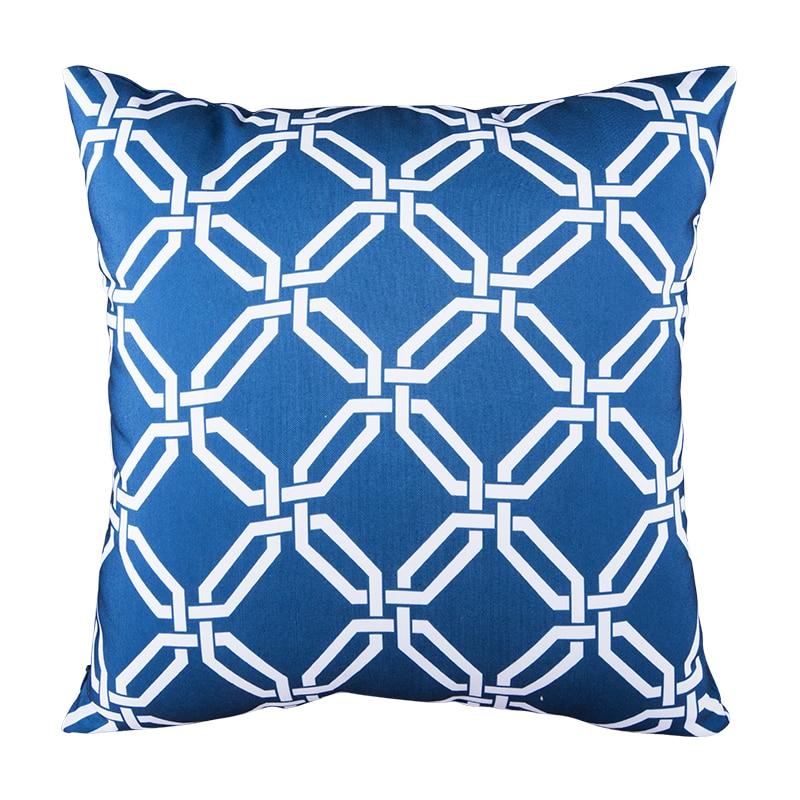 Elegant Sofa Pillows: Blue Cushion Cover For Sofa Modern Elegant Cheap