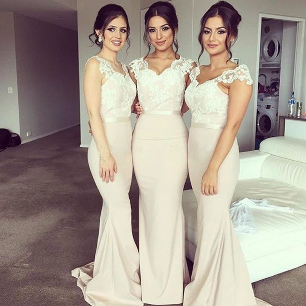 rosa wedding kleid weiß bridesmaids