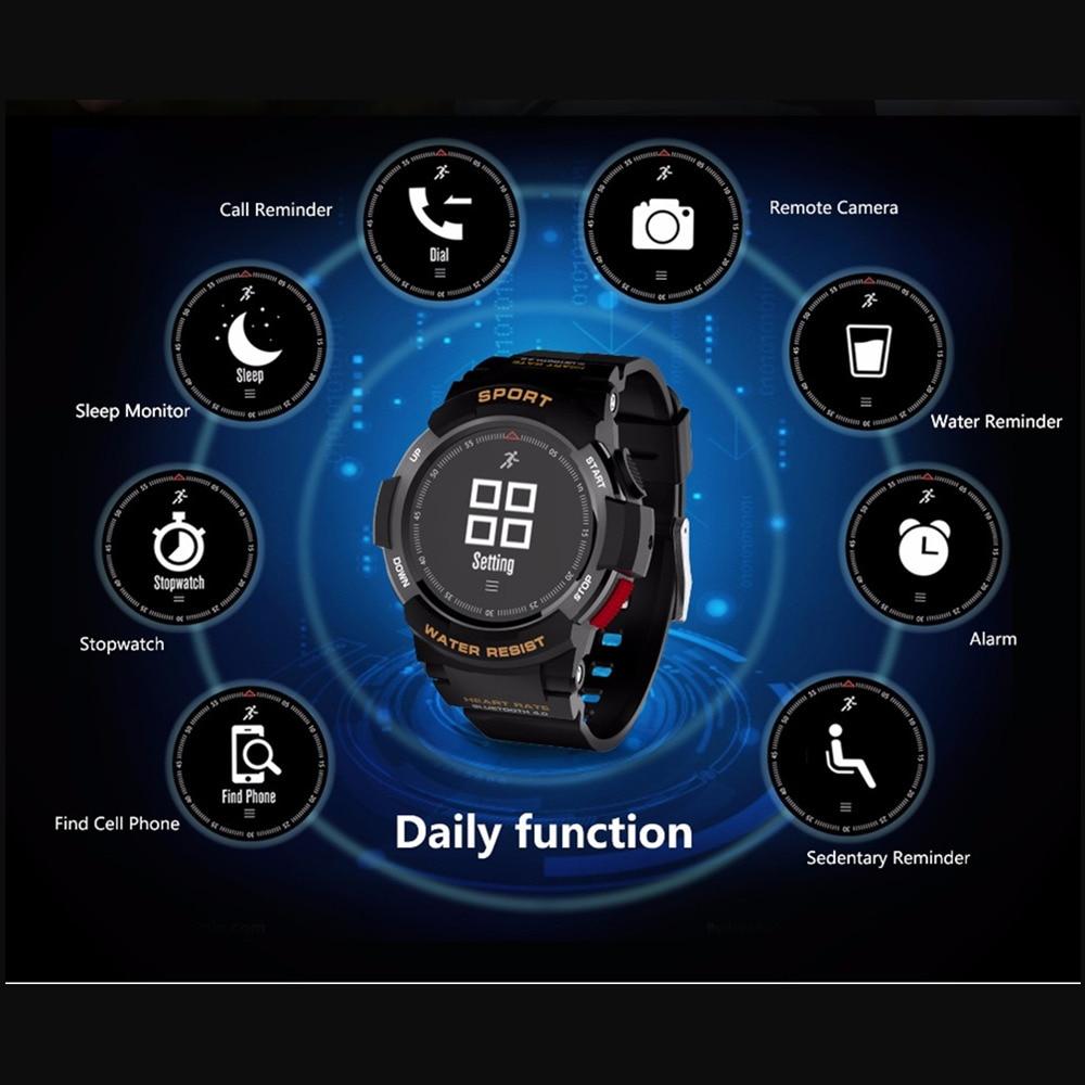 OGEDA Men Watch Bluetooth F6 Smartwatch IP68 Waterproof Heart Rate Monitor Fitness Tracker Smart watch with Multi Sport Mode New