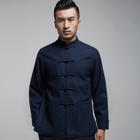 2018 Limited Ao However Qiu Dong Men's Old Tang Suit Manufacturer Provides Straightly Cloth Coat Lining Thin Version With 7718