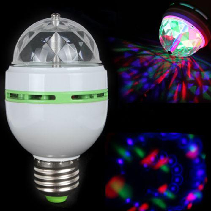 3W E27 RGB Full Color LED-lamp Auto Rotating Stage Effect DJ Disco Gloeilamp Mini Laser Stage Bar Party Lichte Decoratie