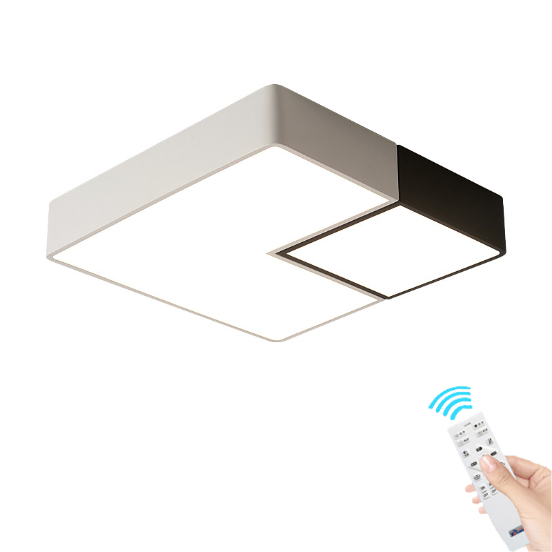 LED remote control Ceiling Light bedroom lamp modern minimalist square living room lamp study restaurant aisle ceiling lamp modern led ceiling lamp aisle simple living room porch balcony study room long lamp