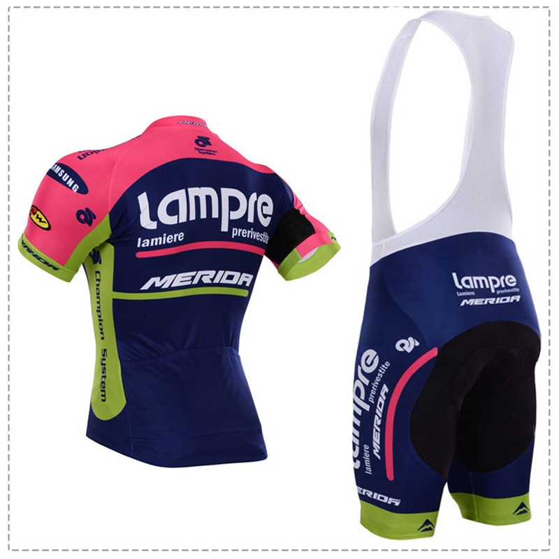 Team pro lampre merida cycling jersey set ropa ciclismo skinsuit bike jersey  + tmb cycling bib shorts cycling sets clothing-in Cycling Sets from Sports  ... c66f4ac67