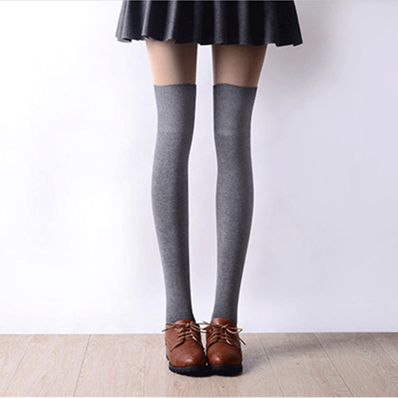 2017 New Fashion High Socks Sexy Stockings Women Cotton Overknees Over The Knee Socks Women Pantyhose For Women 8 Colors