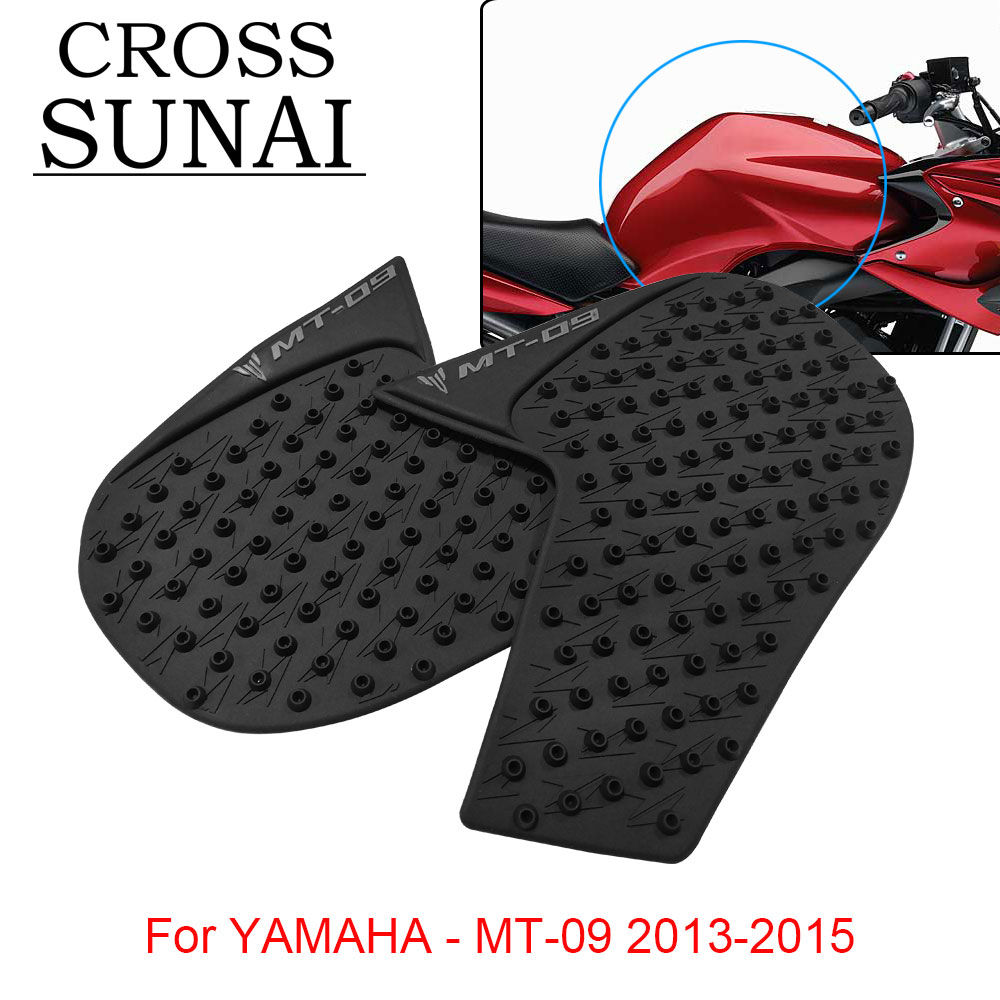 Motorcycle Anti Slip Stickers Pad Accessories Parts Rubber Protector Pad Motorbike For YAMAHA MT 09 2013 2014 2015 Black Rubber in Decals Stickers from Automobiles Motorcycles