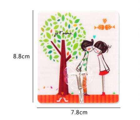 Bearing 3kg Transparent Seamless Adhesive Hook Waterproof Oilproof Strong Sticking Wall Hanger Kitchen Bathroom Self Hooks Stick in Robe Hooks from Home Improvement
