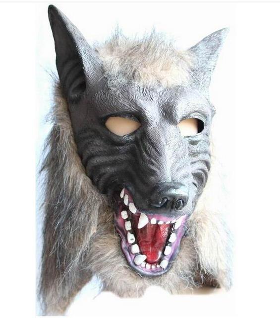 dettagliare Più affidabile nuovi prodotti per US $14.14 20% di SCONTO|Nuovo terrore halloween pasqua lupo maschera pieno  viso mascherata maschera cosplay/animale caps silicone realistico ...