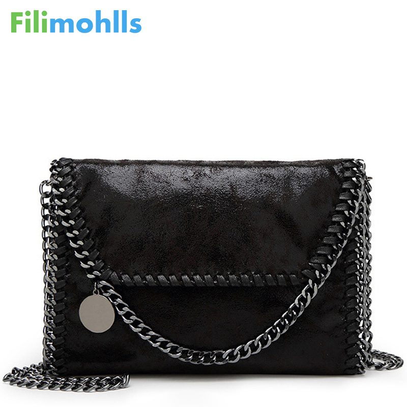 2019 Envelope Shoulder Bag Bolsa Feminina Carteras Mujer Handbag New Women Message Bag Pu Fashion Portable 2 Chains Bag S1449