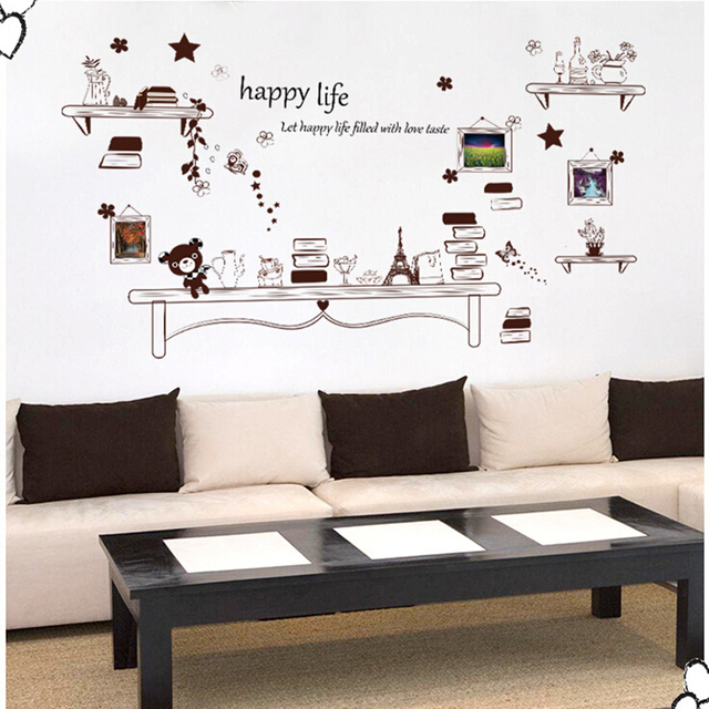 Creatieve foto frame sticker diy vinyl muurstickers home decor ...