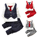 2016 Fashion Baby Boy clothing sets Gentleman Suit Toddler Boys Clothing Set Long Sleeve Kids Boy Clothing Set Birthday Outfits