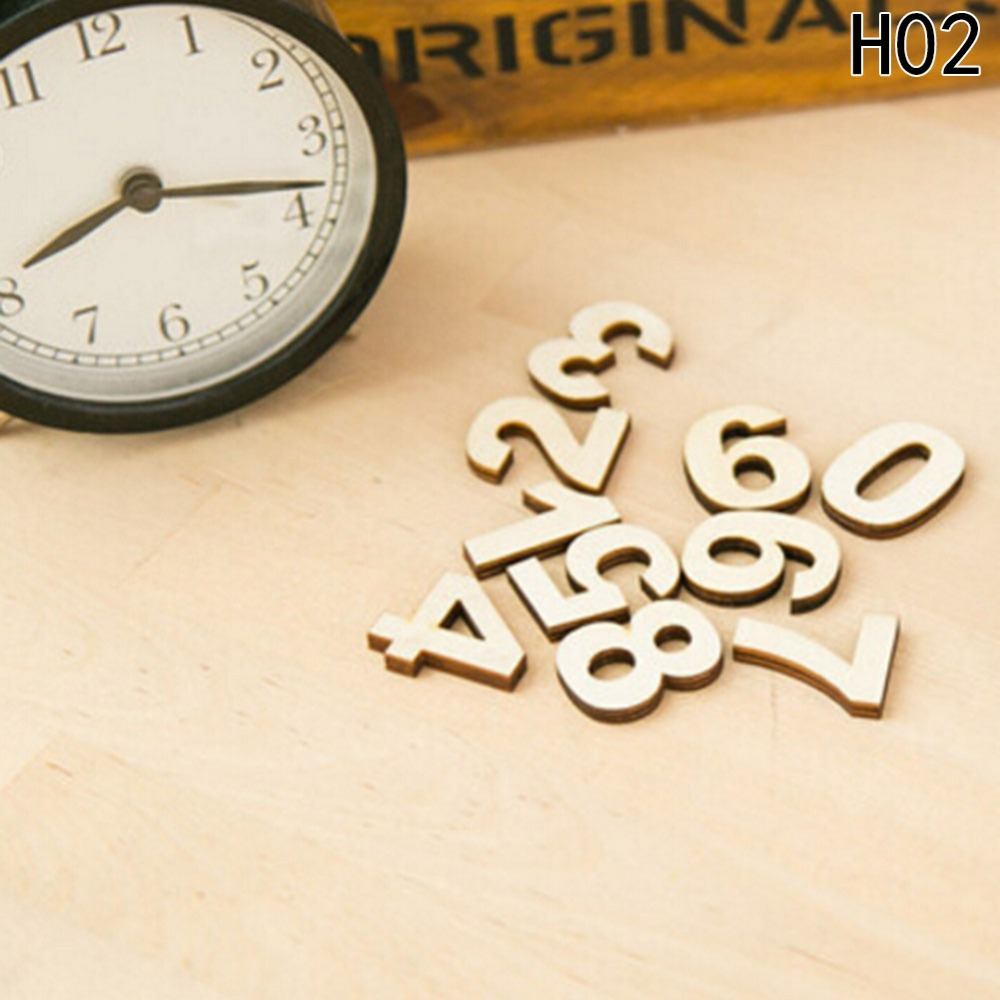 Crafts Wooden Letters DIY Scrabble Letters English Alphanumeric Decoration For Kids Rooms Home Accessories