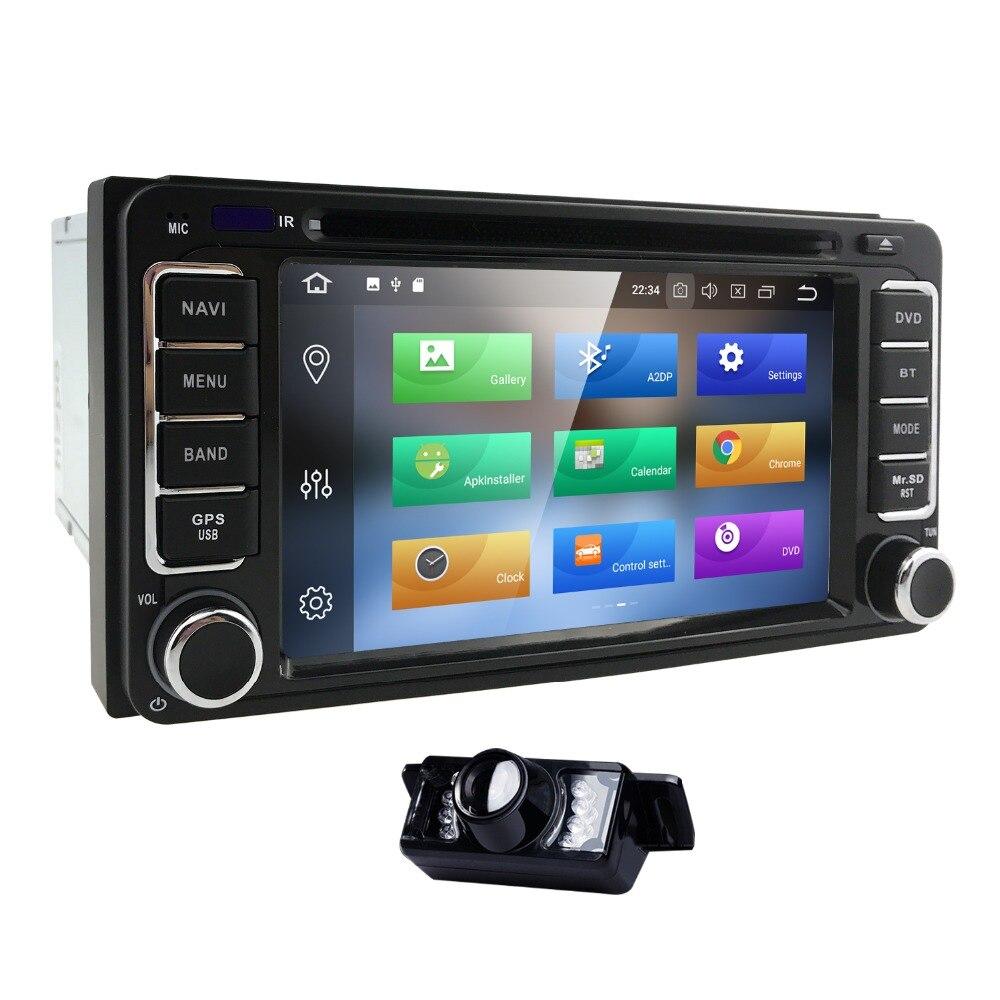 2 din AutoRadio Android 8.0 Lecteur DVD de Voiture Pour Toyota Land croisière 100 200 COROLLA 150 RAV4 Hilux Prado 120 Yaris Camry 4 COUREUR