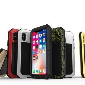 Image 3 - Funda de teléfono de aluminio y Metal resistente a golpes para IPhone, funda protectora resistente a golpes para teléfono IPhone 12 Mini 11 Pro XR XS MAX 6S 7 8 Plus X 5S