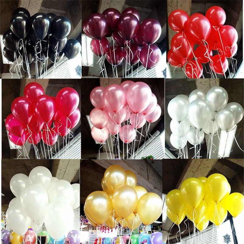 Black Latex Balloons 10pcs 10 inch Latex Helium Balloon Inflatable Wedding Decorations Air Balls Happy Birthday Party Balloons