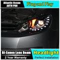 AUTO. PRO Para vw golf 6 faros bi xenon 2009-2013 lente Para vw GOLF MK6 faros H7 aparcamiento tear LED luz DRL car styling