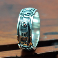 V. YA 925 Sterling Silver Rings Moda Drobne Czerwone Granat S925 Srebrny Big Size Finger Pierścienie dla Kobiet Mężczyzn JewelryExcellent Jakości