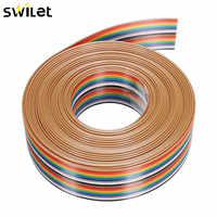 5M 1.27mm 20P DuPont Cable Rainbow Flat Line Support Wire Soldered Cable Connector Wire
