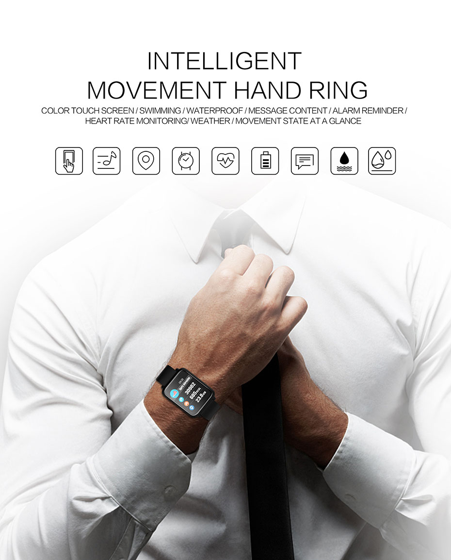 COLMI Smart Watch M28 IP68 Waterproof Bluetooth Heart Rate Blood Pressure Smartwatch for Xiao mi Android IOS Phone 2