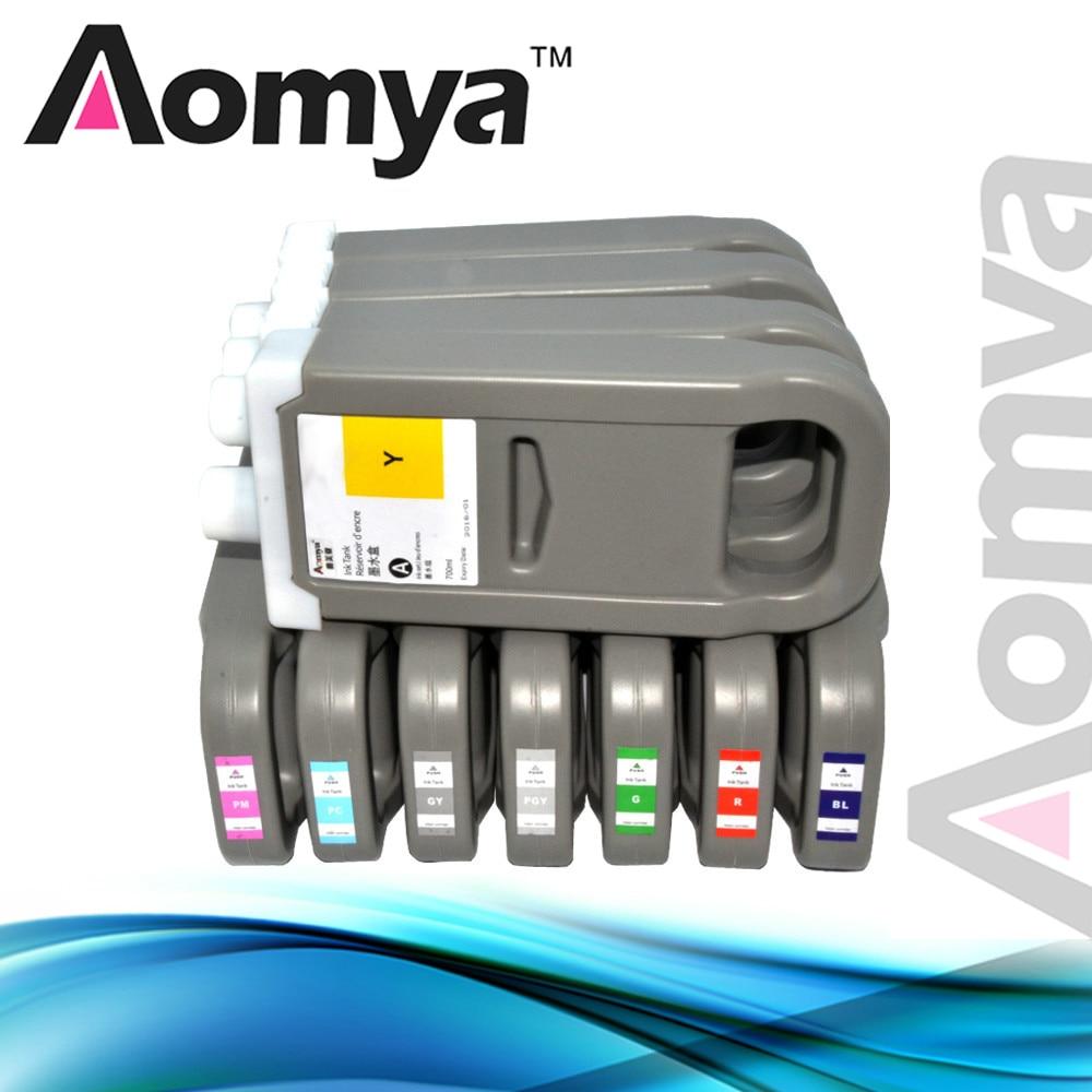 Совместимый чернильный картридж PFI 701 для Canon iPF 8100/8000 с УФ стойкими красящими чернилами 12 цветов