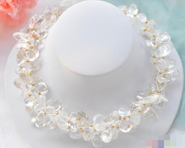 LIVRAISON GRATUITE >>>@@> 3619 3row propre en cristal massif collier