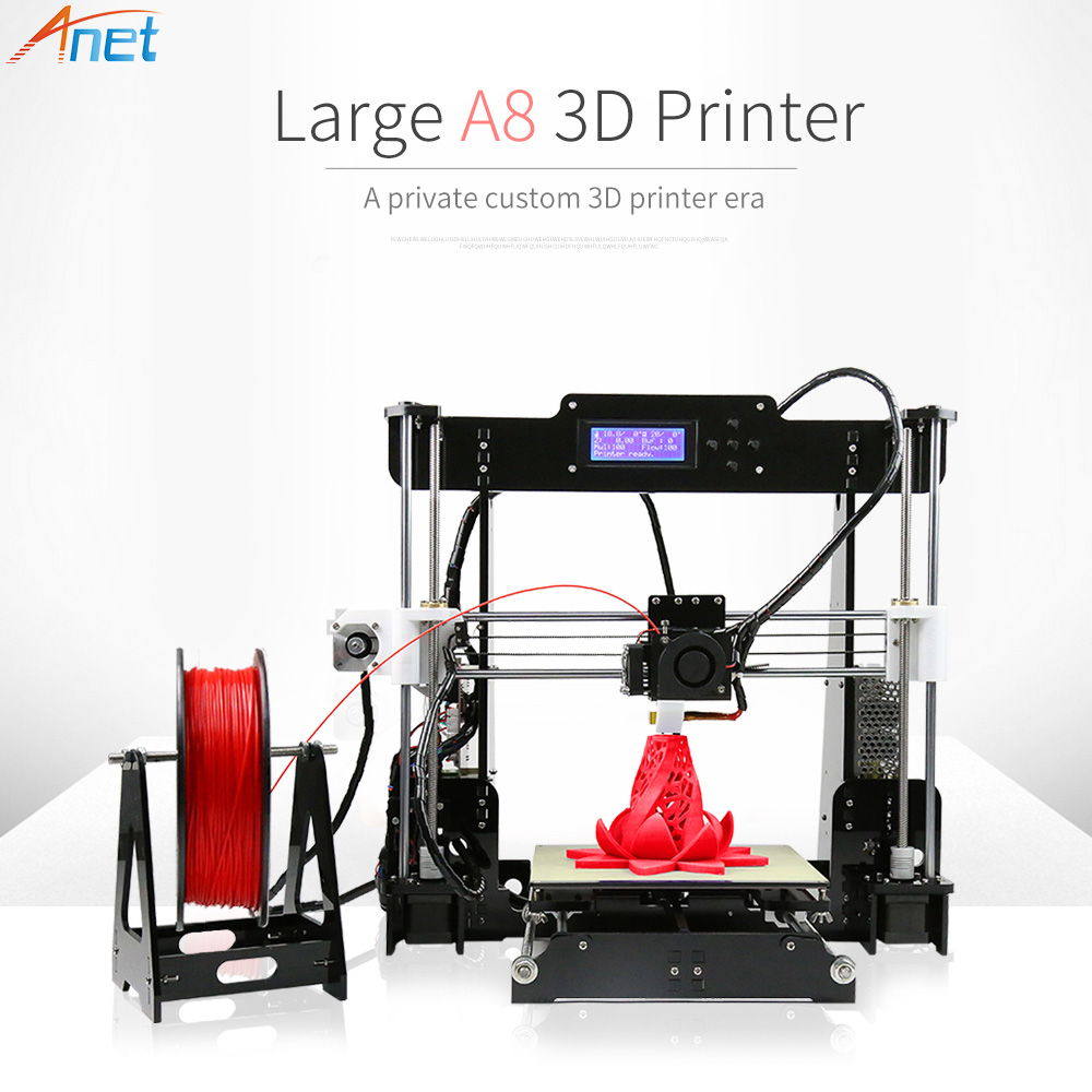 Anet Normal/Auto Level A6 A8 Impresora 3D Printer Reprap Prus i3 Aluminum Heated Bed DIY with Free Filaments anet a6 normal