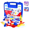 Kids Simulation Doctor Pretend Play Set Toy Medicine Box Chest Kit Instruments Nurse Children Baby Playsets,1Set=13*Tools+1*Case