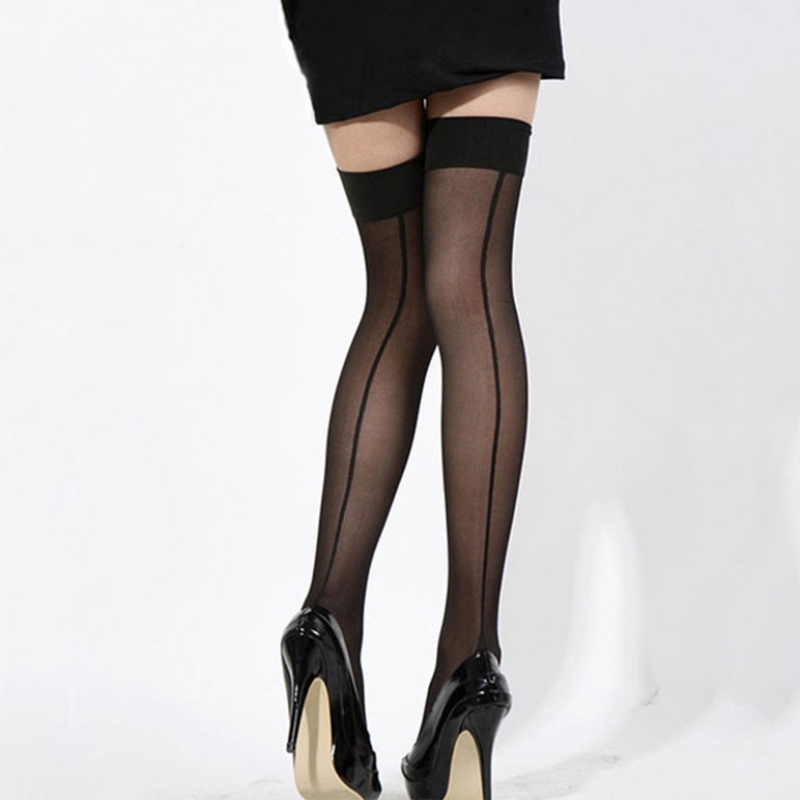 Summer Sexy Stockings Tights Top Thigh Stockings Women's Acrylic Temptation Stockings Knee High Stockings Lingerie